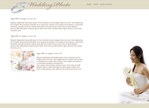 Free wedding website template design 4