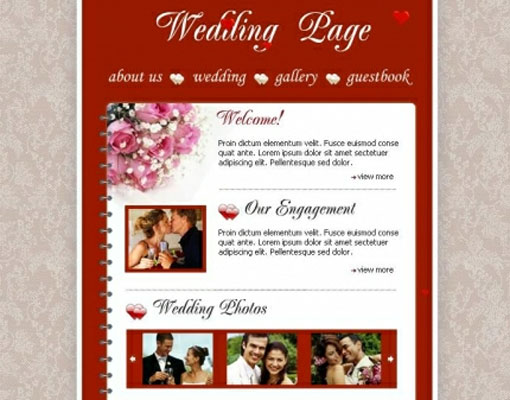 Free wedding website template design 7