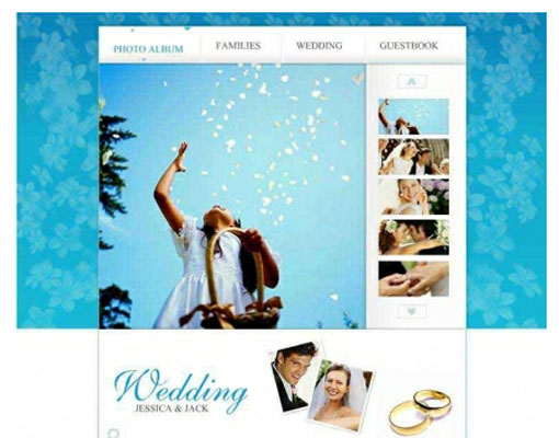 Free wedding website template design 8
