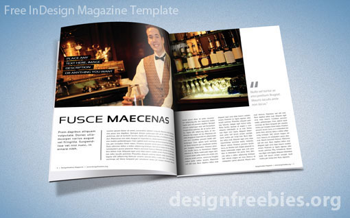 Free Exclusive InDesign Magazine Template v.2 | Designfreebies