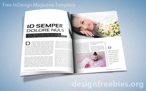 free exclusive indesign magazine template v 2 designfreebies. Black Bedroom Furniture Sets. Home Design Ideas