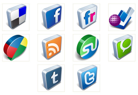 Free Icon Pack: Vector 3D Social Icons