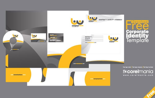 Free Corporate Identity template from vector open stock
