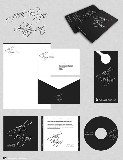 Free corporate identity templates - Jack design package