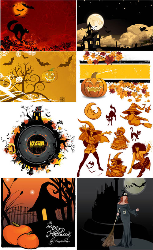 2012 halloween vector collection 12