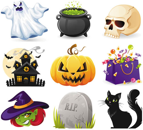 2012 halloween vector collection 5