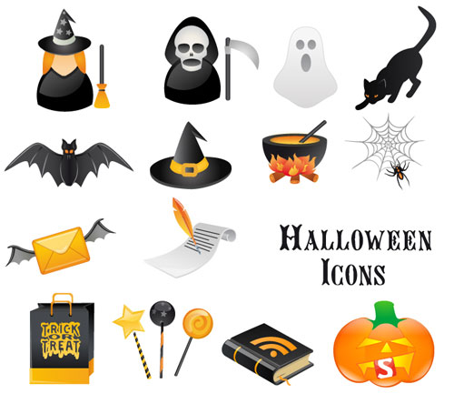 2012 halloween vector collection 7