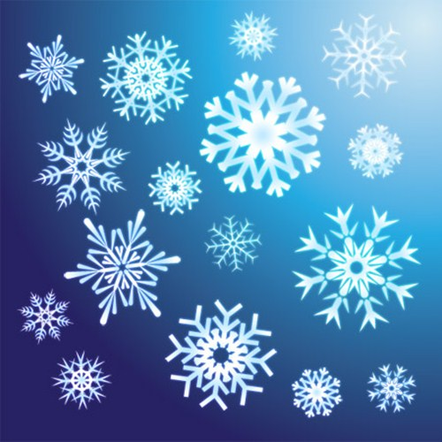 2012 free snowflakes Christmas vector 12
