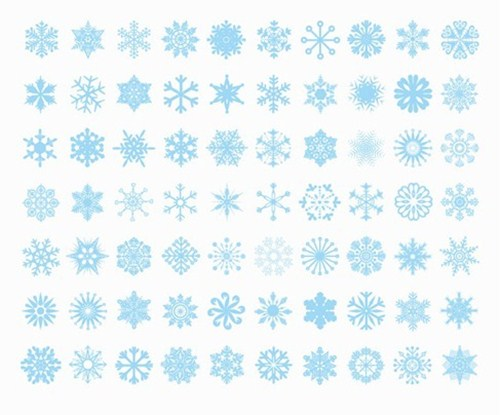 2012 free snowflakes Christmas vector 7