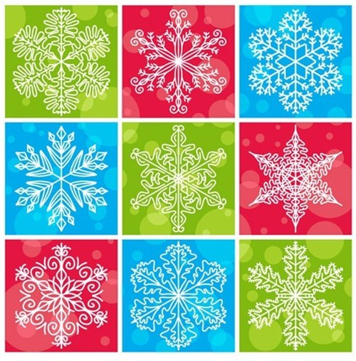 2012 free snowflakes Christmas vector 8