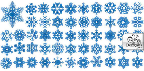 2012 free snowflakes Christmas vector 1
