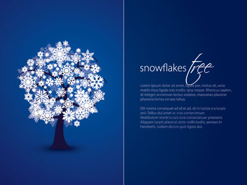 2012 free snowflakes Christmas vector 3