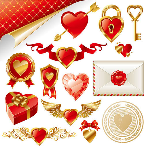 2013 Free Valentine Vector Pack 7