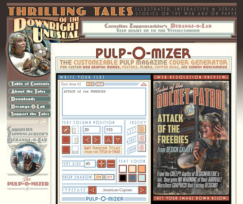 Pulp-o-mizer screen shot main