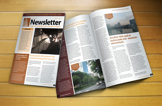 free indesign newsletter template