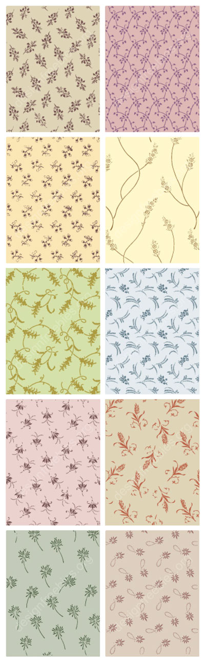 Free vector decorative ornamental vector patterns