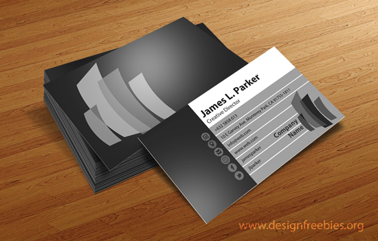Free PSD business card template 2