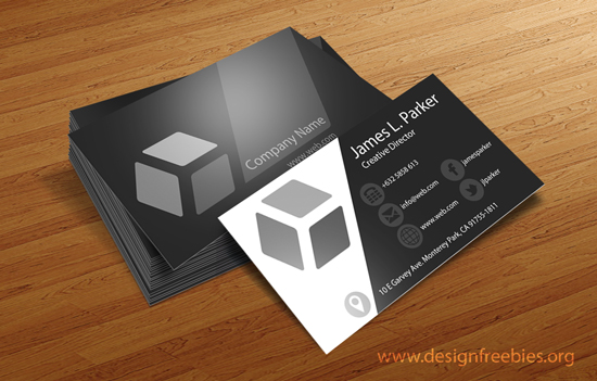 Free PSD business card template 3