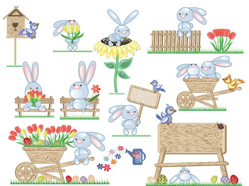 Free easter vector material 5