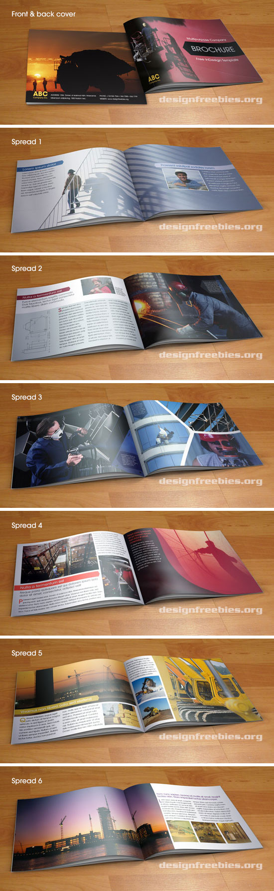 indesign brochure template free - free indesign template multipurpose a5 booklet type