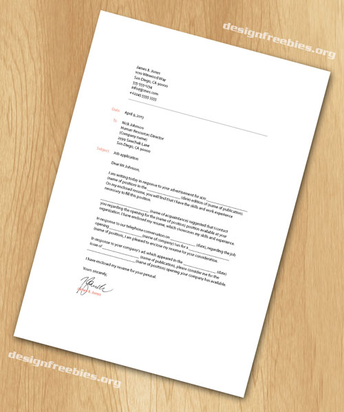 free indesign resume cv cover letter template 4 - Resume Cover Letter Templates Free