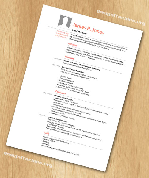 Free InDesign Templates: Simple and Clean Resume / CV with Cover ...