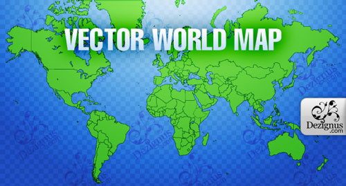 Free vector world map 9