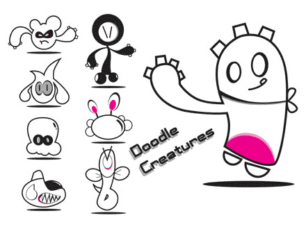 Free vector doodles and sketches 13
