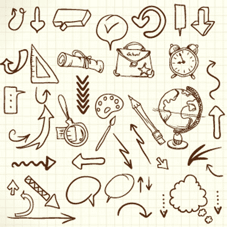 Free vector doodles and sketches 2