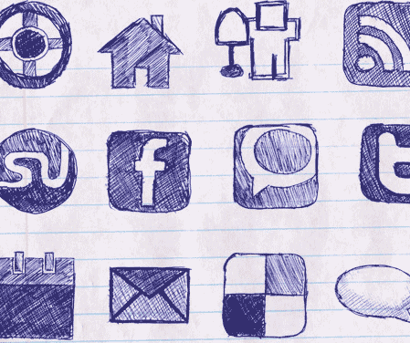 Free vector doodles and sketches 4