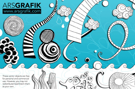 Free vector doodles and sketches 6