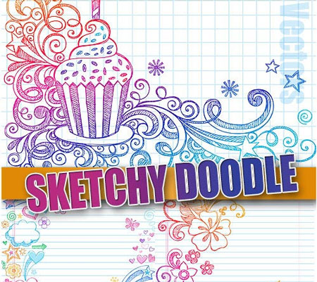 Free vector doodles and sketches 7