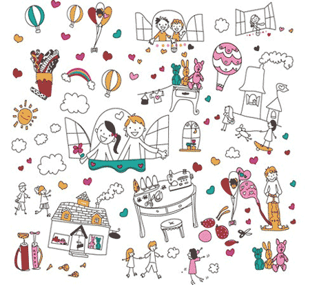Free vector doodles and sketches 9