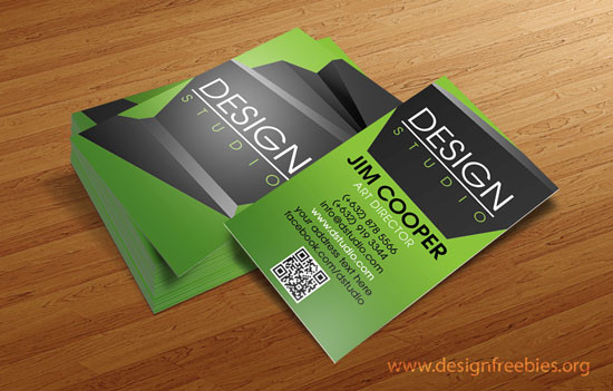 Free PSD Templates Elegant Design Studio Business Card - Business card template photoshop psd