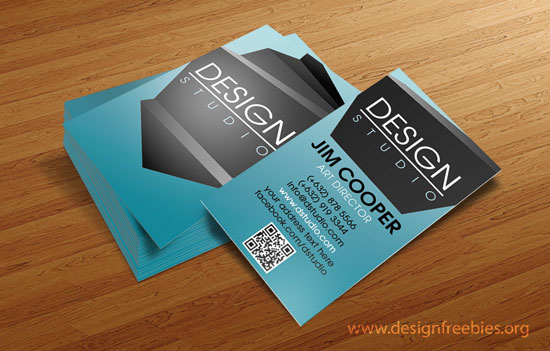 Free Photoshop PSD business card template 2