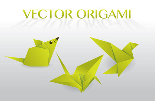 Free vector origami design element set 5