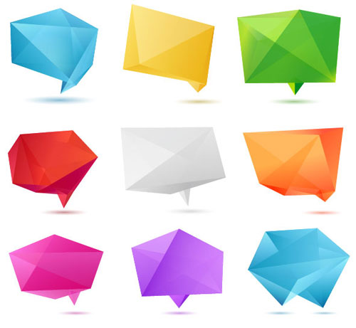 Free vector origami design element set 8