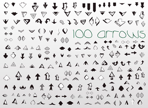 100 free vector arrows
