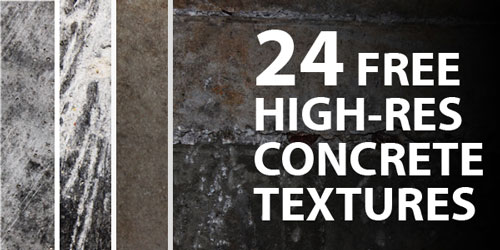 24 Free High-Res Concrete Textures