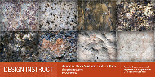 Assorted Rock Surface: Texture Pack