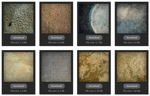 Concrete texture backgrounds from texture king