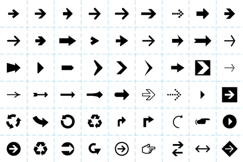 vector arrows web icons