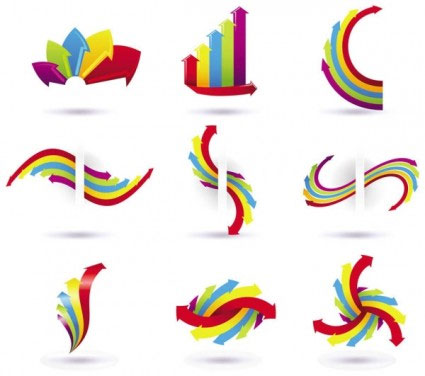 Free colored vector arrows