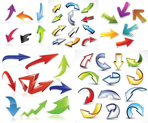 Free funky 3d vector arrows