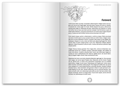 Free InDesign book template spread 2