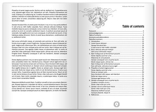 Free InDesign book template spread 4