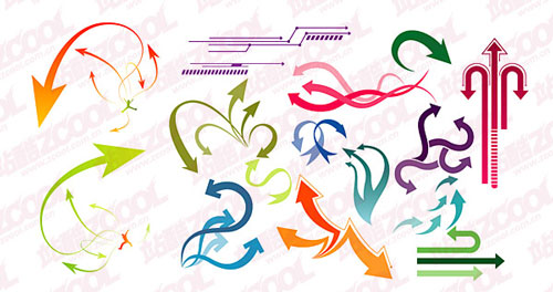 Cool dynamic arrow Vector material