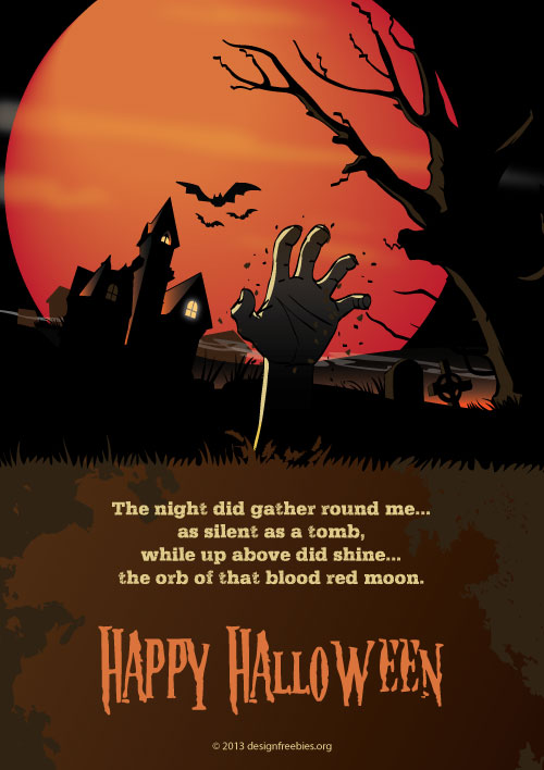 Designfreebies 2013 Free Halloween vector template 2