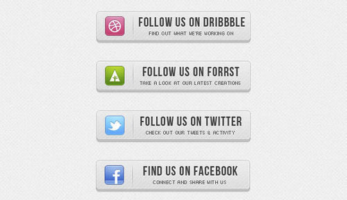 Free PSD web buttons 3