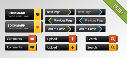 Free PSD web buttons 4